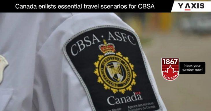 CBSA essential travel