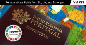 Portugal allows flights from EU